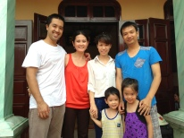 Hung's second cousins Trang and Nam loved the kids