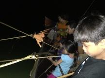 Nighttime squid-fishing