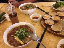 Bun Bo Hue (spicy beef noodle soup) -- my favorite!