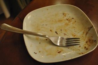 This was Tom's disturbingly bone-free plate.