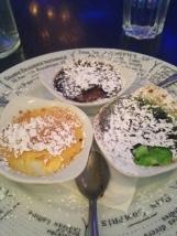 Trio of crème brûlée.