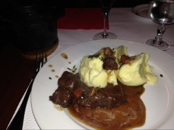 Beef bourguignon.