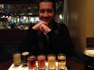 Beer samplers make Tom happy