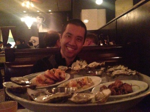 Seafood platters make Tom happy
